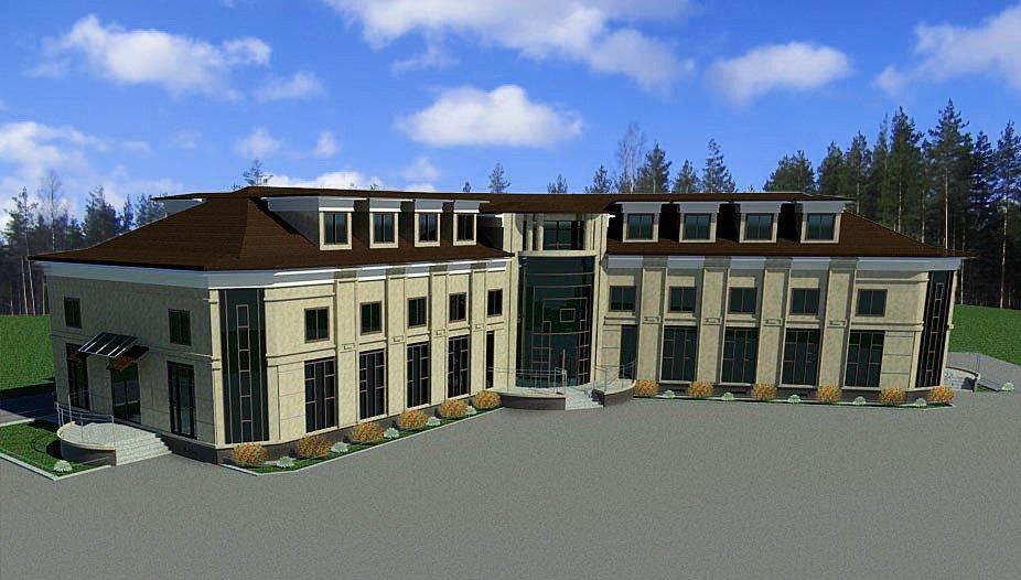 Загородный дом с балконом - StroimDom24com